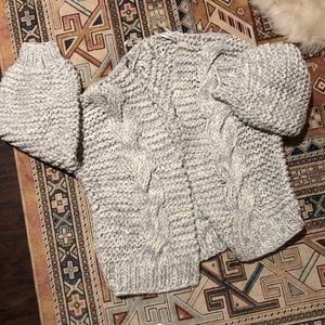 Thick Knitted Baby Blue Cardigan
